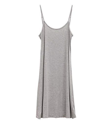 シールド指定する最大女性のサンドレスナイトウェアノースリーブのドレス短いスリップ XL(アジアのサイズ)、グレー