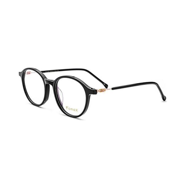 FONEX Round Prescription Eyeglasses Spectacles Myopia Optical Frames ...