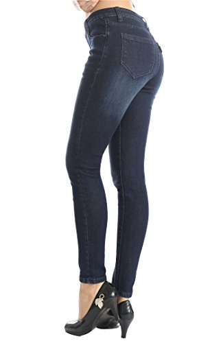 ZADDIC Skinny Jeans Women's Casual Butt Lift Stretch Jeans Leggings (4, Dark...
