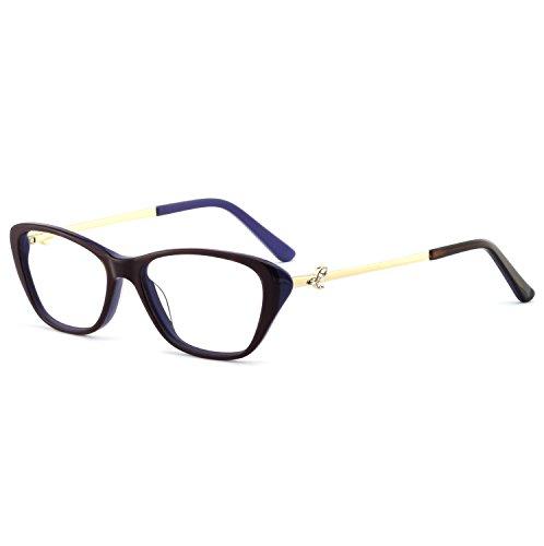 OCCI CHIARI Stylish Women's Eyewear Clear Lens Frame Glasses Samll Circle Non Prescription Eyeglasses (OC7031-C3 Dark - Frame Eyeglasses Light Havana