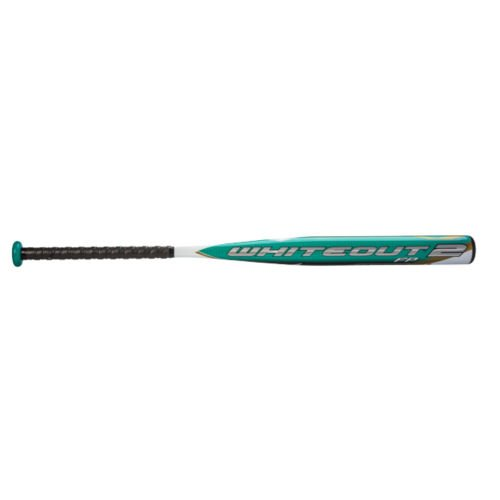 (Mizuno Whiteout 2 Balanced Fast Pitch Bat (-12.5), White/Teal, 33-Inch )