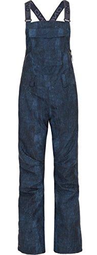 - O'Neill Womens Shred Bib Pant, Blue AOP, Large