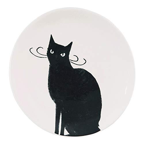 Best Halloween Desserts (One Holiday Way Modern Black Cat Dessert Plate - Cat Lovers Halloween Dishware)