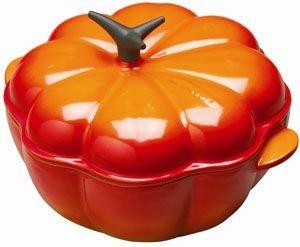 Le Creuset Enameled Cast-Iron 2-1/4-Quart Pumpkin Casserole, Flame