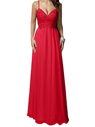 Neu Steine Rock Charmant 2018 Brautmutterkleider Damen Langes Abendkleider Rot Promkleider Festlichkleider Linie A Chiffon xqx6wEFtA
