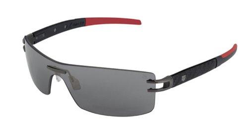 Tag Heuer L-Type LW 0451 Sunglasses Calfskin Black / Ceramic / - Heuer Sunglasses L Type Tag