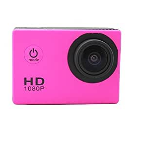 Niceshop® SJ4000L New Edition Helmet Sports DV 1080P Full HD H.264 12MP Car Recorder Diving Bicycle Action Camera 1.5 Inch LCD 170 degree Wide Angle Lens Outdoor VCR/CAR DVR/Camera G-Senor Motorbike Camcorder DVR SJ4000 W/ Larger Waterproof Case, Easier to use (Pink)