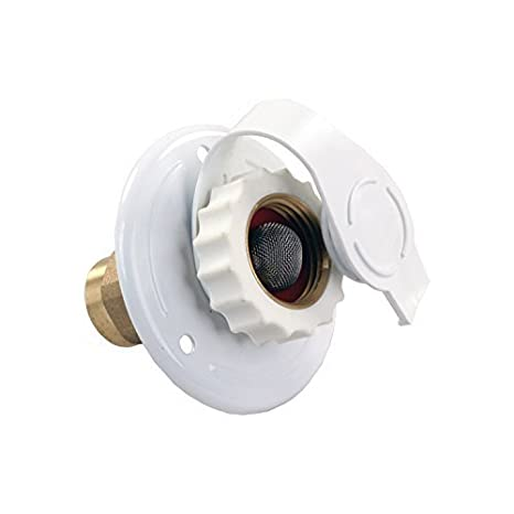Amazon.com: JR Products 62155 White Metal City Water Flange by JR Products: Automotive