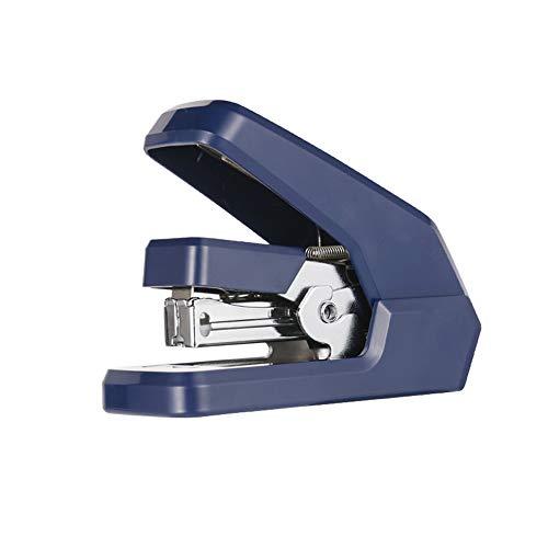 Stapler,Mini Stapler,Small Stapler,Portable Stapler,One-Touch Desktop Stapler,12 Sheet Capacity,Low Force ++ (Color : Blue)