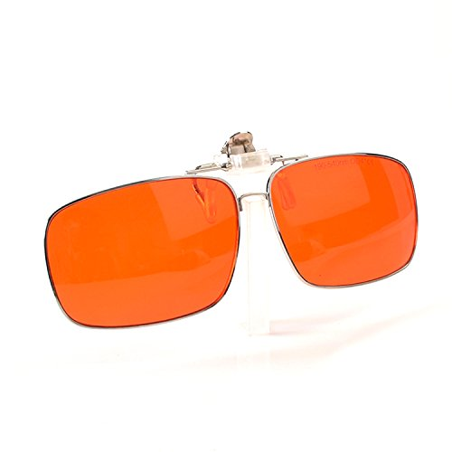Gafas de seguridad l/áser para gafas de 405 nm lentes rojas VLT30 /% color morado montura blanca y negra CE OD4 protecci/ón completa de l/áser verde l/áser azul 190 ~ 550 nm 532 nm 450 nm