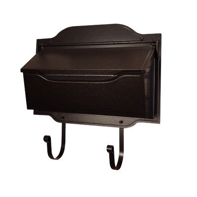 Contemporary Wall Mounted Mailbox with Rain Overhang Finish: Oil Rubbed Bronze