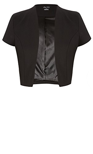 Designer Plus Size BOLERO AFTER 5 CS - Black - 18 / M | City Chic