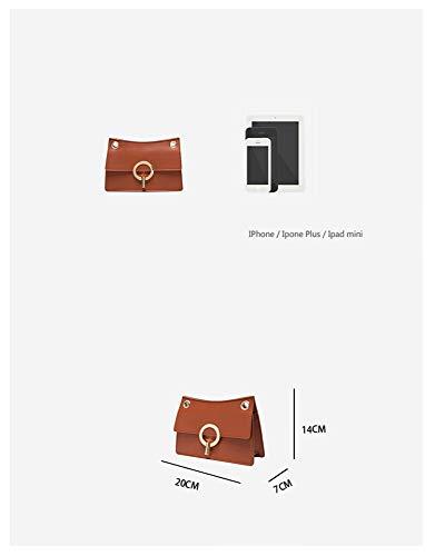A Serratura Singola Selvaggia Messenger Retro Donna Spalla Piccola Semplice Tracolla A3 Borsa Bag Quadrata Z60Wwqdq