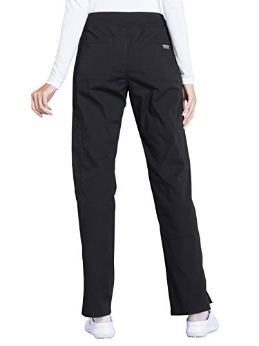 Cherokee Professionals Workwear Women's Elastic Waistband Pull On Cargo Scrub Pant Small Black by Cherokee (Image #2)