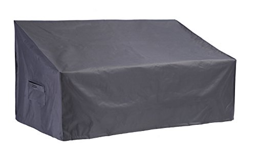 Loveseat/Sofa Cover All Weather Protective Patio Furniture Sofa Cover with Secure Buckle Straps 58 Inches(Grey) (Pontoon Boat Seat Covers)
