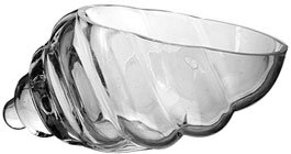 Hosley's Glass Shell Vase - 8