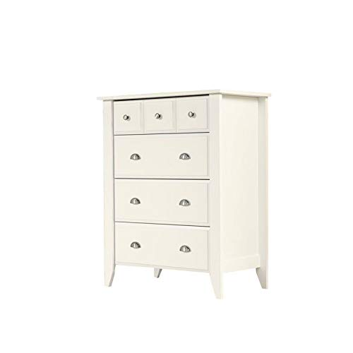 Sauder Shoal Creek 4-Drawer Dresser, Soft White finish (Drawers Small White)