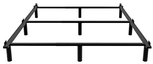 ZIYOO Bed Frame Base for Box Spring,7 inch Adjustable Metal Bed Rails for BedFrame for Mattress Foundation,All Purpose For Full,Queen,King,Cal King