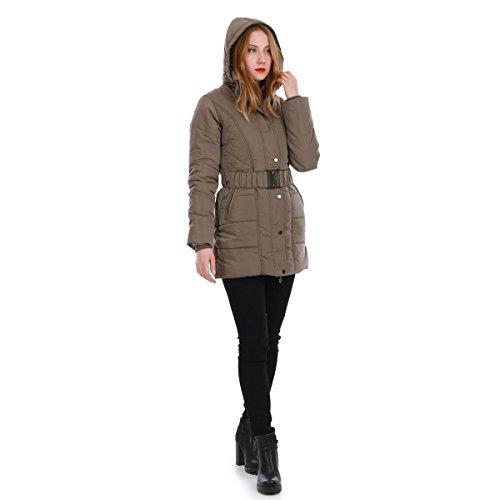 La Modeuse - Abrigo - para mujer caqui