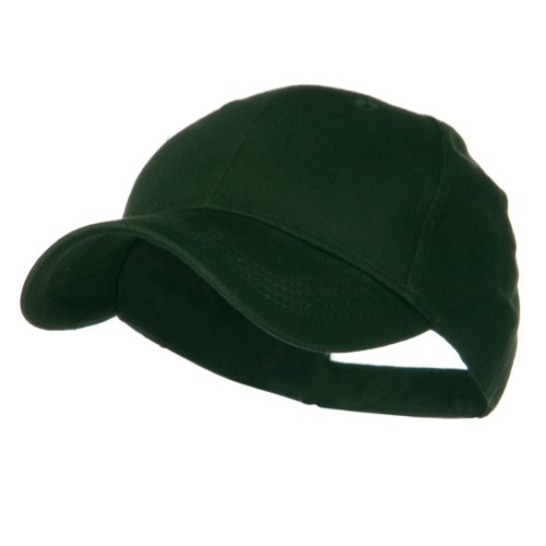 Youth Brushed Cotton Twill Low Profile Cap - Dark Green ()