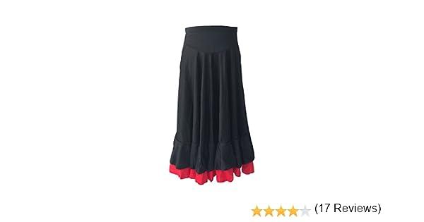 La Señorita Falda Flamenco Sévillane con 2 Volantes niña Negro ...
