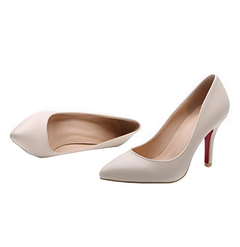 Pointed Pumps Nude Wedding HooH Women Pumps Toe Red Dress Sole p8wEq