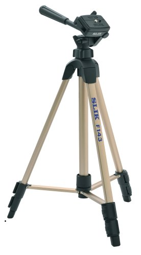 Slik F143 Compact Economy Tripod with Slide Center Column (Silver) by Slik