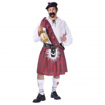 Fun World Men's Big Shot Scot Costume, Multi, Plus Size