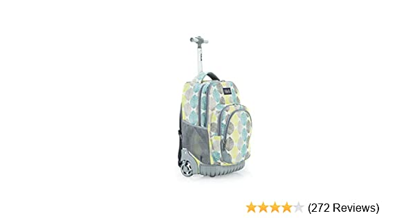 19f93cddd333 Amazon.com  Tilami Rolling Backpack Armor Luggage School Travel Book Laptop  18 Inch Multifunction Wheeled Backpack for Kids and Students (Leaves)  ...