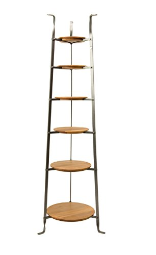 (Enclume CWS6 W/Boards 6-Tier Gourmet Cookware Stand with Alder Shelves, Hammered Steel, Hammered Steel)