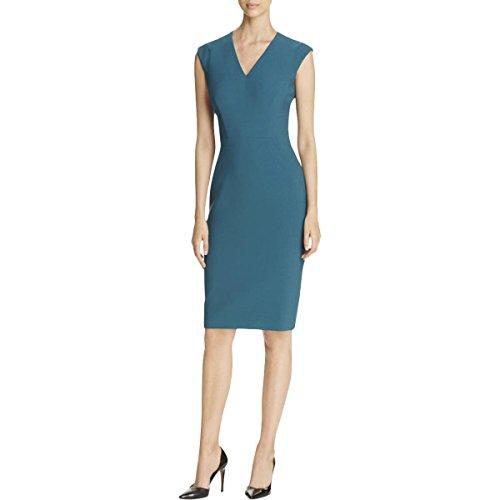 Hugo Boss Womens Back Zip Polyester Wear To Work Dress Green - Ladies Hugo Boss