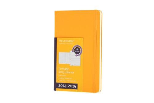 Moleskine 2014-2015 Turntable Weekly Planner, 18M, Large, Orange Yellow, Hard Cover (5 x 8.25) (Planner Moleskine 2015 Turntable)
