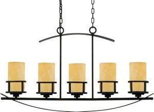 Quoizel KY540IB Kyle Faux Alabaster Island Chandelier, 5-Light, 500 Watts, Imperial Bronze (23
