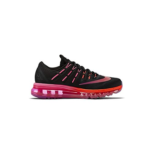 Price comparison product image Nike Womens Air Max 2016 Running Shoes Black / Multi Colo Noble Red 806772-006 Size 9