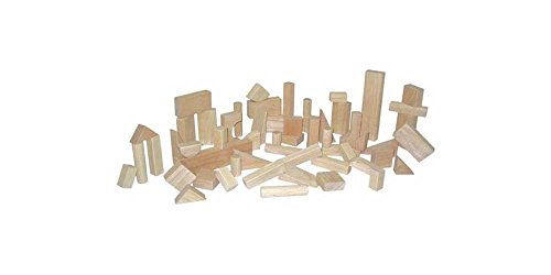 Kid's Play 56 Pc Basic Blocks Set by Wood Designs