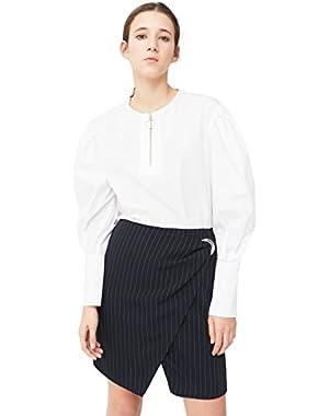 Mango Women's Buckle Wrap Skirt