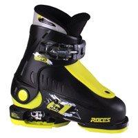 Roces 2018 Idea Adjustable Black/Lime Kid's Ski Boots 16.0-18.5 by Roces
