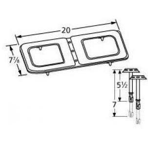 Stainless Steel Figure-8 Burner and Venturi Kit for Jacuzzi Grills - Stainless Steel Figure 8 Burner