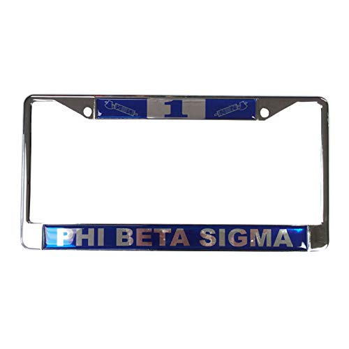 Desert Cactus Phi Beta Sigma Line Number # Metal License Plate Frame for Front Back of Car (#1 License Plate Frame)