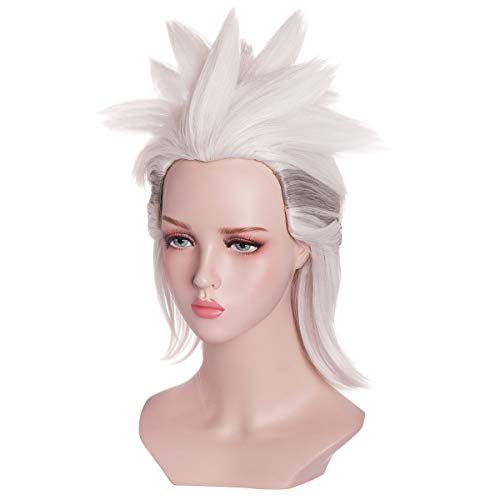 ColorGround Silver White Fluffy Prestyled Cosplay Wig for Women]()