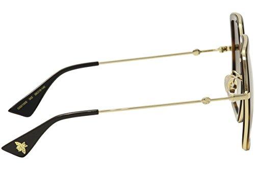 gucci 0106s. sunglasses gucci gg 0106 s- 002 avana / brown gold 0106s 0