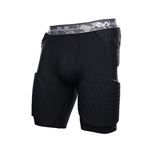 (McDavid Hex Short with Contoured Wrap Around Thigh, XX-Large, Black)