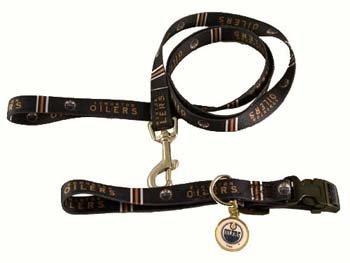 UPC 716298817878, Hunter Edmonton Oilers Collar, Lead, ID Tag for Pets, Medium