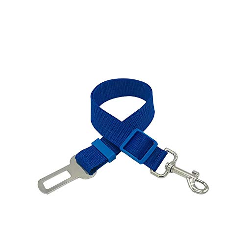 cola-site Vehicle Car Pet Dog Seat Belt Harness Safety Lever Auto Traction Pet Supplies,Navy Blue,Free ()