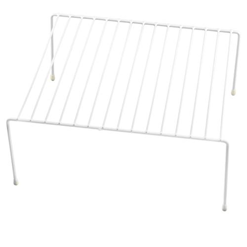 Helper Shelf Cabinet Organizer - Ybm Home Wire Cabinet Helper Shelf Organizer, White 2554 (1, 12 in. L x 10 in. W x 5 in. H)