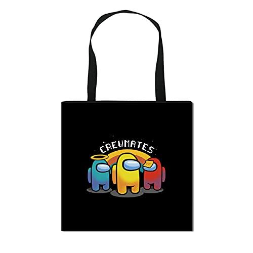Trendy Fun Tote Bag Hobo Bags Shoulder Totes Canvas Crossbody Boho Bags Black for Women Girls Kids Aesthetic Cute Casual