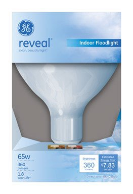 GE Reveal 65 Watt R40 Floodlight (Pack of 6) (48692 Bulb Ge Reveal)