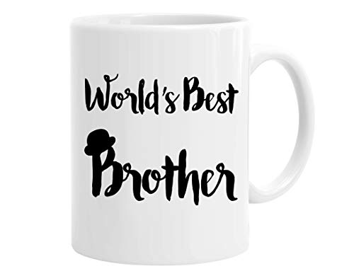 - InterestPrint World's Best Brother Ceramic Coffee Mug White Tea Cup - Funny Fathers Brothers Day Birthday or Christmas for Him, Men, Dad, Friends, 11 Ounce