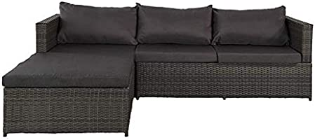 Aktive 61007 Rinconera sofá chaise long y mesa jardín, Multicolor: Amazon.es: Jardín