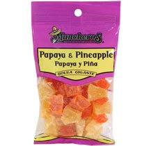 Muncheros Dried Pineapple & Papaya, 4.5-oz. Bags